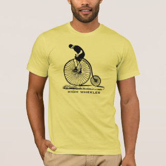 Antique high wheeler bicycle men's t-shirt