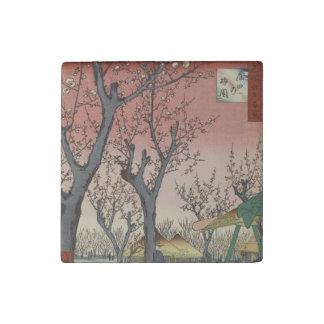 Antique Hiroshige Wood block Print Art Painting Stone Magnet