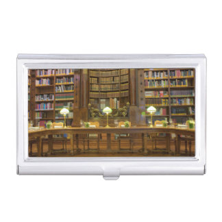 Antique Historical Library Business Card Case