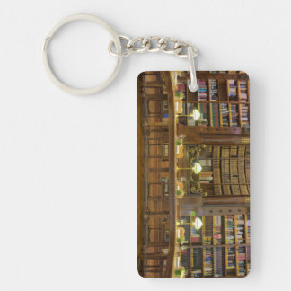 Antique Historical Library Keychain