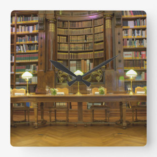 Antique Historical Library Square Wall Clock