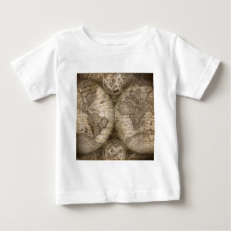Antique Historical Old World Atlas Map Continents Baby T-Shirt