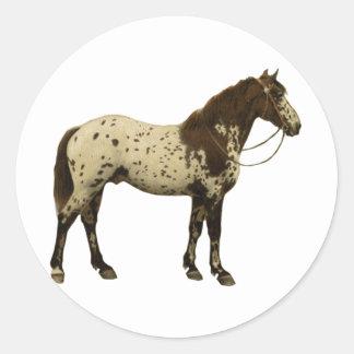 Antique Horses - Appaloosa Classic Round Sticker
