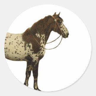 Antique Horses - Appaloosa Round Stickers