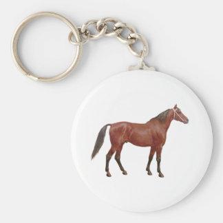 Antique Horses - Thoroughbred Basic Round Button Keychain