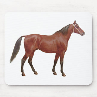 Antique Horses - Thoroughbred Mouse Pad
