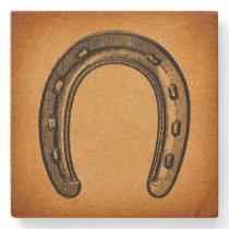 Antique Horseshoe Vintage Western Horse Shoe Stone Coaster