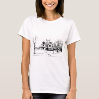 Antique House with Trees in Pen and Ink T-Shirt