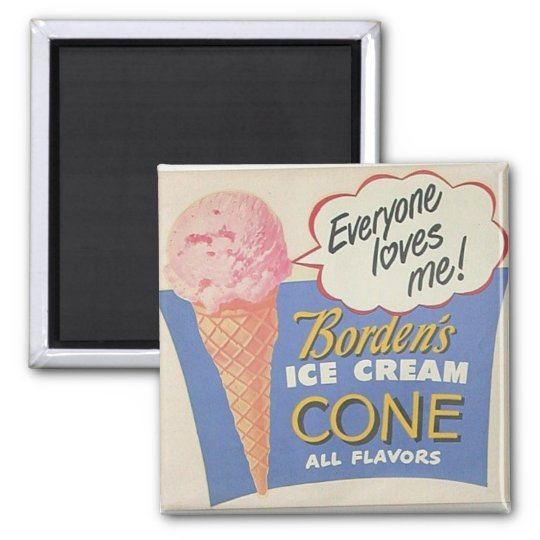 antique ice cream sign magnet