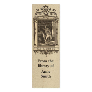 Antique Illustration Bookmark Mini Business Card