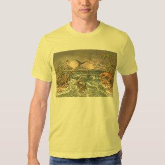 Antique image of prehistoric animals shirt
