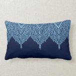 Antique Indian Pattern Blue Floral Vintage Zen Pillows