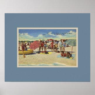 Antique Inspired Saint Petersburg Florida Beach Poster