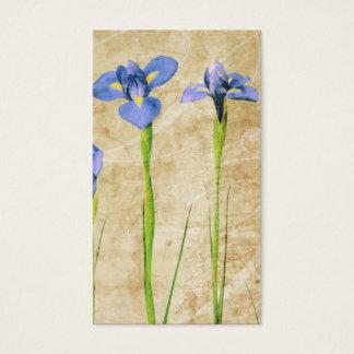 Antique Irises - Vintage Iris Background Customize Business Card