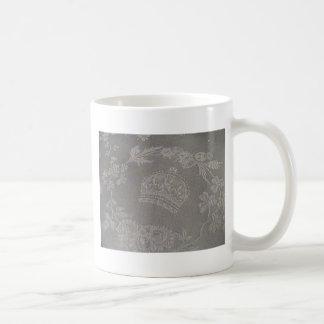 Antique Irish Damask with Royal Crown Coffee Mug