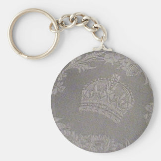 Antique Irish Damask with Royal Crown Keychain