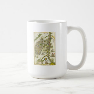 Antique Islamic Map Coffee Mug