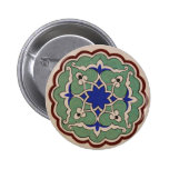 Antique Islamic Tile Design 2 Inch Round Button