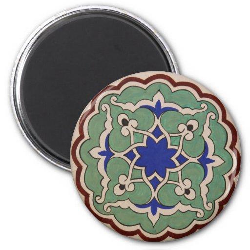 Antique Islamic Tile Design Fridge Magnet Zazzle