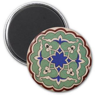 Antique Islamic Tile Design Fridge Magnet