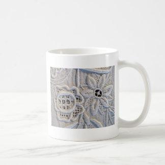 Antique Italian Embroidery Coffee Mug