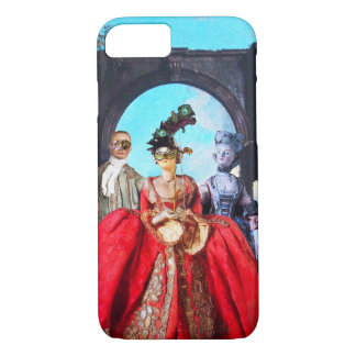 ANTIQUE ITALIAN PUPPETS AND MASKS MASQUERADE PARTY iPhone 8/7 CASE