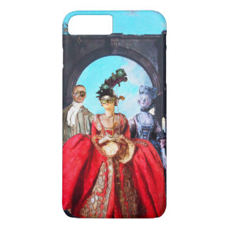 ANTIQUE ITALIAN PUPPETS AND MASKS MASQUERADE PARTY iPhone 8 PLUS/7 PLUS CASE