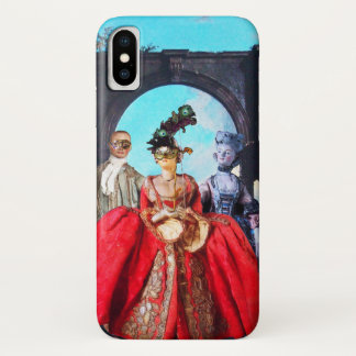 ANTIQUE ITALIAN PUPPETS AND MASKS MASQUERADE PARTY iPhone X CASE