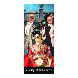 ANTIQUE ITALIAN PUPPETS MASQUERADE COSTUME PARTY PERSONALIZED INVITES