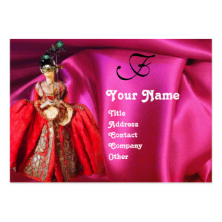 ANTIQUE ITALIAN PUPPETS MASQUERADE MASKS,COSTUMES BUSINESS CARD TEMPLATE