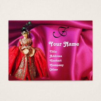 ANTIQUE ITALIAN PUPPETS MASQUERADE MASKS,COSTUMES BUSINESS CARD
