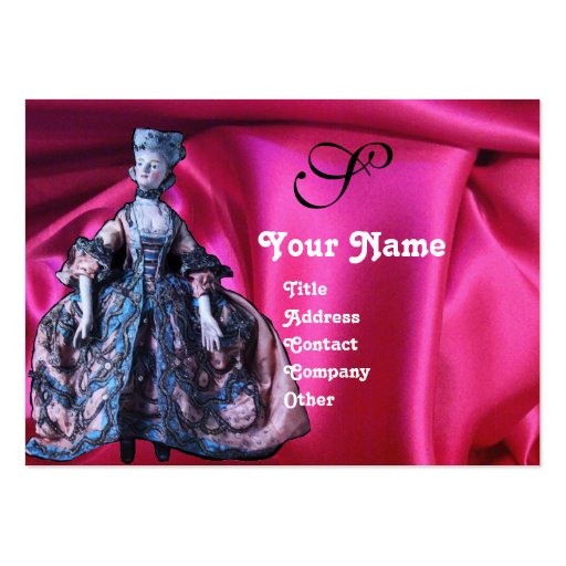ANTIQUE ITALIAN PUPPETS MASQUERADE MASKS,COSTUMES LARGE BUSINESS CARD