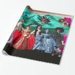 ANTIQUE ITALIAN PUPPETS MASQUERADE PARTY GIFT WRAP PAPER