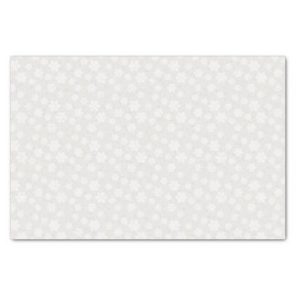 """Antique Ivory and White Floral Tissue Paper 10"""" X 15"""" Tissue Paper"""