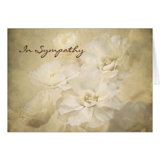 Antique Ivory Blossoms Condolence Sympathy Card