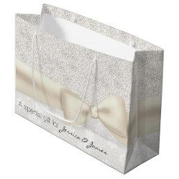Antique Ivory Floral Wedding Gift Bag