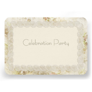 Antique Ivory Lace Wedding Reception Cards