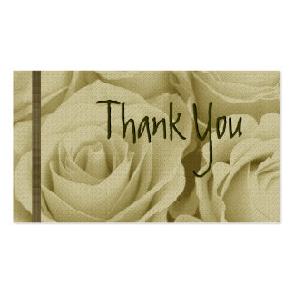 ANTIQUE IVORY Roses Thank You Wedding Card Business Card Template
