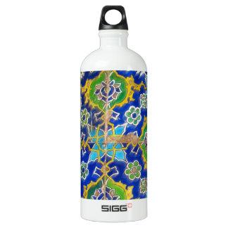 Antique Iznik Glaze Tiles  Ottoman Era Aluminum Water Bottle