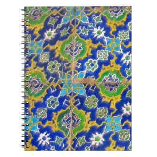Antique Iznik Glaze Tiles  Ottoman Era Notebook