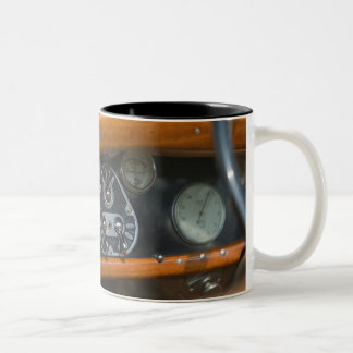 antique jaguar 2 Two-Tone coffee mug