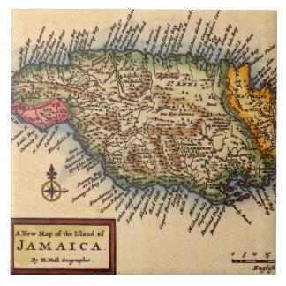 Antique Jamaica Map Tile