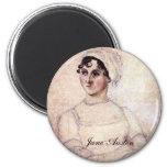 Antique Jane Austen Portrait 2 Inch Round Magnet