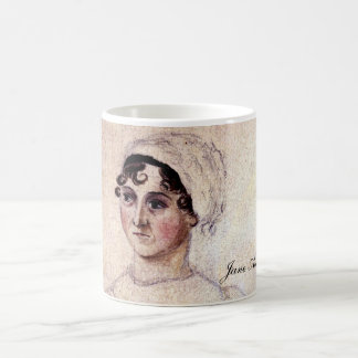 Antique Jane Austen Portrait Coffee Mug