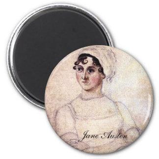 Antique Jane Austen Portrait Fridge Magnet