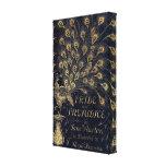 Antique Jane Austen Pride and Prejudice Peacock Canvas Prints