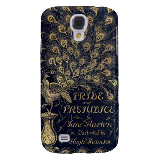 Antique Jane Austen Pride and Prejudice Peacock Samsung Galaxy S4 Covers