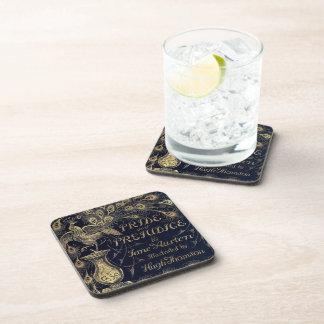 Antique Jane Austen Pride and Prejudice Peacock Drink Coaster