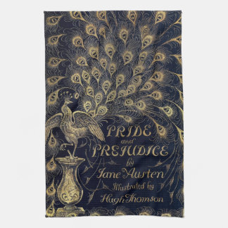 Antique Jane Austen Pride and Prejudice Peacock Hand Towel