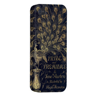 Antique Jane Austen Pride and Prejudice Peacock Covers For iPhone 4